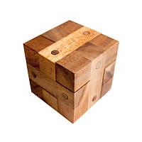 Деревянная головоломка Куб с гвоздями
