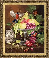 Набор для вышивки крестом Золотое Руно ГН-013 Ваза с фруктами