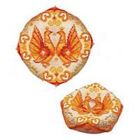 Набор для вышивки крестом Риолис 1474АС Свадебная подушечка для колец