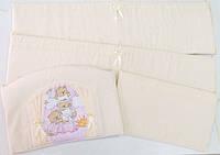 Детский постельный комплект «Домик для мишки» (Розовый, 7 элементов), EkoBaby