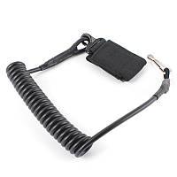 Страховочный шнур спиральный (тренчик) черный