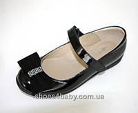 Детские туфли в школу для девочек ТМ Lapsi (Лапси) 16-1279 черные