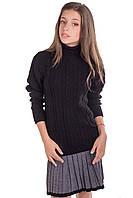 Теплый свитер для девочки подростка (черный, белый)
