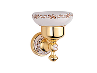 Мыльница KUGU Medusa 707G (латунь, золото, керамика)(Бесплатная доставка Новой почтой)