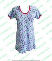 Женская ночная рубашка для кормящих стрейч кулир цветной.