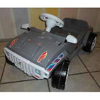 Машинка для катания педальная серая Орион 792