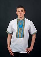 Чоловіча вишиванка з коротким рукавом, 42 - 58 р-ри