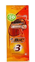 Одноразовые 3 лезвийные бритвенные станки BIC-3 Sensitive
