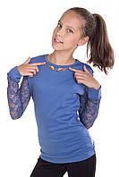 Нарядная кофта с гипюром для девочки подростка (разные цвета)