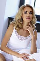 Женская бельевая майка белого цвета с кружевом, модель Anita Eldar.