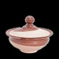 Миска глиняная с крышкой Gloss CD02 Покутская керамика