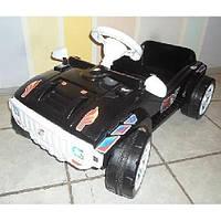 Машинка для катания педальная чорная Орион 792