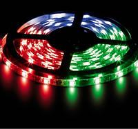 Светодиодная лента LS606/ SANAN LED-RL 60SMD(5050)/m 14,4W/m 12V 5m*10*0.22mm RGB на белом, Feron