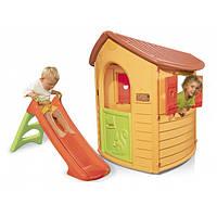 Детский игровой Лесной домик + горка XS Smoby Nature 310151