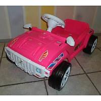 Машинка для катания педальная ярко-розовая Орион 792