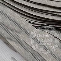 Молния рулонная серого цвета, Т3 (метражом)