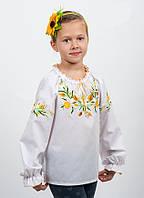 """Нежная детская вышиванка на девочку """" Нарциссы белые"""""""