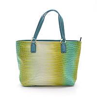 Качественная женская сумка бирюзового цвета из искусственной кожи