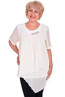 Летняя блузка из шифона Туника  Большие размеры