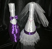 Украшение свадебного шампанского «Жених Невеста»