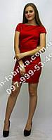 Красивое стильное красное платье