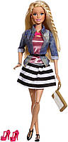 Кукла Барби Barbie Style Doll, Jean Jacket and Black/White Skirt