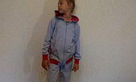 Спортивный костюм детский серый на шнурке( начес)