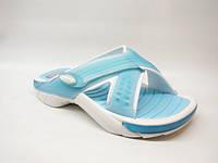 Шлепанцы женские пляжные голубые Rider Б709