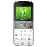 Бабушкофон Keneksi T1 White, крупные клавиши, приемник, 2 SIM, Bluetooth, 97 г