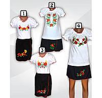 Костюм вышиванка для девочки, подростка, интерлок. р.р.28-40