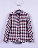 Блуза в клетку для девочки 55% лен/45% хлопок