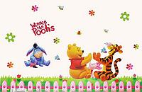 Наклейки для детской комнаты Медвежонок Винни Пух и друзья Winnie the Poohs 105*80см(лист 50*70см)