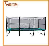 Батут детский прямоугольный KIDIGO 457 х 305 см с защитной сеткой