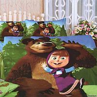 Детский постельный комплект Love you Маша и медведь 233
