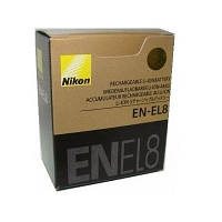 Аккумулятор батарея Nikon EN-EL8 ENEL8 емкость 730 mAh P1, P2, S1, S2, S3, S5, S6, S7, S7c, S8, S9, S50, S50c,