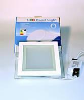 LED PANEL LIGHT 12W Glass Точечный светильник квадрат