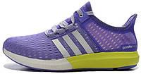 Женские кроссовки Adidas Gazelle Boost (адидас газель буст) фиолетовые