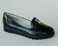 Туфли для девочек Yalike арт.183-37 черный. молния (Размеры:33-38)