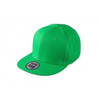 Ярко-зеленая кепка с прямым козырьком