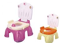 Детский горшок-стульчик со спинкой и крышкой