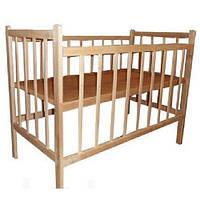 Детская кроватка КФ ольха без лака, 2 положения дна