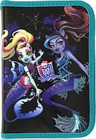 Пенал школьный Kite Monster High 621-1 1 отделение, 1 отворот, без наполнения