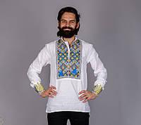 Мужская вышиванка с национальной символикой