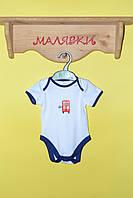 """Бодик для мальчика """"Автобус"""" (68 размер)"""