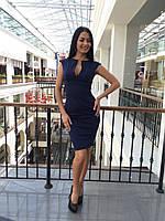 Женское модное прямое платье по фигуре с горловиной на молнии (7 цветов)