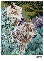 """Схема для вышивания бисером """"Пара волков"""" 2104"""