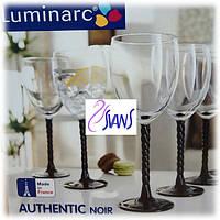 Authentic Black Набор бокалов для вина 310 мл - 6 шт Luminarc h5657