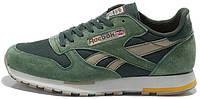 Мужские кроссовки Reebok Classic Suede (рибок классик) зеленые