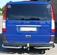 Защита заднего бампера на Mercedes Vito 639 (2004-2010)