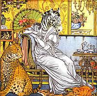 Декупажная салфетка Картина с животными 870